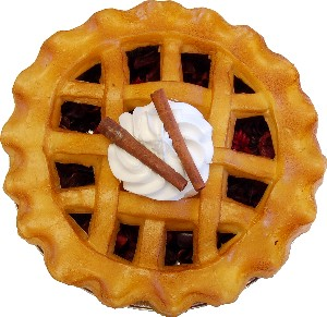 "Potpourri Pie 9"" Cinnamon Fragrance Fake Food USA"
