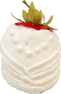 Bride white Chocolate dipped fake strawberry USA