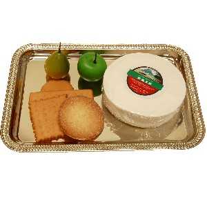 Brie Fake Cheese and Crackers Rectangle Tray Fake Food