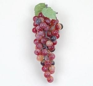 Grapes Burgundy 8 inch Fake Fruit