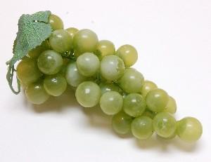 Grapes Green 8 inch Fake Fruit