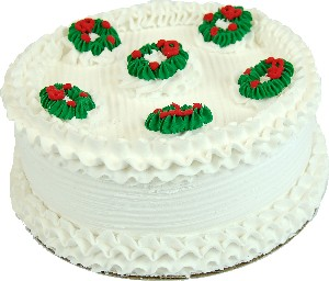 """9"""" Christmas Wreath Fake Cake USA"""