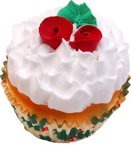 Christmas Rose Fake Cupcake