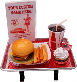 Small Car Hop Fake Food Tray Cheeseburger Set