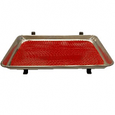 Car Hop Tray with Red Mat