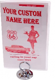 Custom Name Car Hop 50's Menu and Holder
