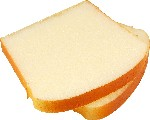White Bread Slice 2 piece fake bread USA