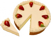 "Strawberry Fake Cheesecake with Slice 10"" U.S.A."