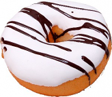 Large Vanilla Chocolate fake Doughnut Soft Touch