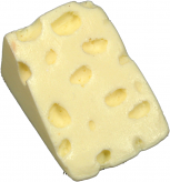 Swiss Wedge Fake Cheese