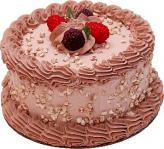 "Raspberry Mocha 6"" Fake Cake"