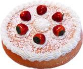 Vanilla Strawberry Fake Sponge Cake