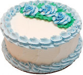 Pale Blue Rose Blank Fake Cake
