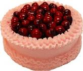 Cherry Top Pink Fake Cake 9 inch
