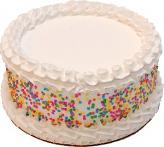 Celebration Vanilla Fake Cake 9 inch BLANK