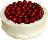 Cherry Top Vanilla Fake Cake 9 inch