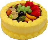 Spring Yellow Fake Fruit Cake 9 inch