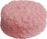 Artificial Pink Rose Cake 9""