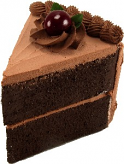 Chocolate cake slice large USA