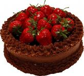 Strawberry Top Chocolate Fake Cake 9 inch