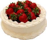 Strawberry Top Vanilla Fake Cake 9 inch