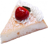 Vanilla Strawberry Fake Sponge Cake Slice
