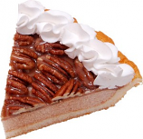 Pecan Cream Fake Pie Slice