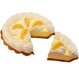 Lemon Cream Artificial Pie with Slice Fake Pie