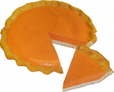 Pumpkin Pie Plain Artificial Pie with Slice Fake Pie USA