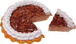 Pecan Cream Artificial Pie with Slice Fake Pie