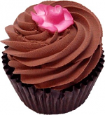 Chocolate Rose Fake Chocolate Cupcake