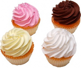 Fake Cupcakes 4 Pack Plain Assortment