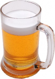 Beer Mug Glass Fake Drink