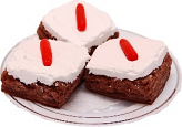 Carrot Cake Fake Brownies 3 Pack with Plate