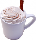 Hot Chocolate Melamine Mug Fake Drink with Cinnamon Stick