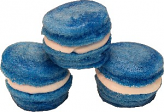 Blue Fake Macarons (Macaroon) with Cream 3 Pack U.S.A.