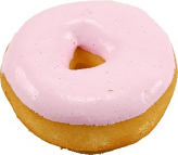 Large Pink fake Doughnut Soft Touch