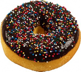 Large Chocolate with Sprinkles Fake doughnut Soft Touch