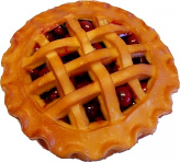 Cherry Lattice Fake Pie 9 inch
