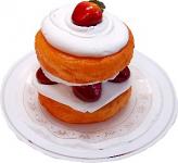 Strawberry Shortcake Fake Dessert on Plate