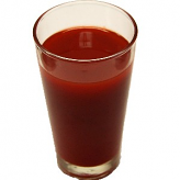 Tomato Juice fake drink Glass USA