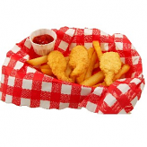 Fake Fried Shrimp French Fries In Basket
