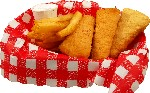 Fish and Chips fake food Basket USA