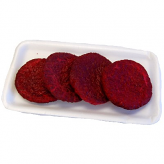 Raw Hamburger Fake Food Patties 4 Pack