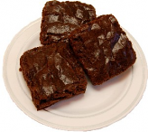 Chocolate Fake Brownies 3 Pack with Plate