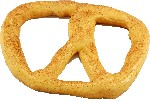 Pretzel Large 6 inch Plain Fake Pretzel USA