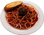 Spaghetti and Meatball Plate USA