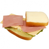 Ham and Cheese Sandwich fake food USA
