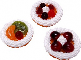 Fruit Fake Tarts 3 inch Assorted 3 pack