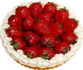 Strawberry Cream Artificial Pie